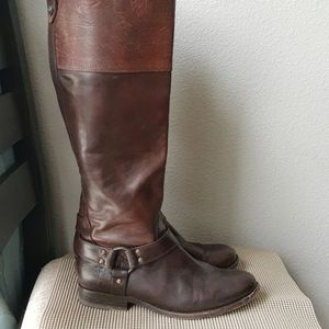 Frye Brown Leather Riding Boots